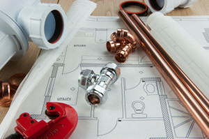 A plumbing set with plans