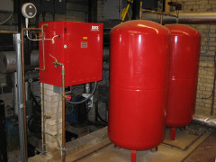 photo of red boilers
